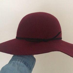 Burgundy felt hat!